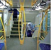 Train internal hand rails